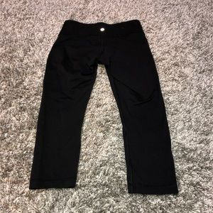 Lululemon Wunder Under Crop Legging Capris Black 6